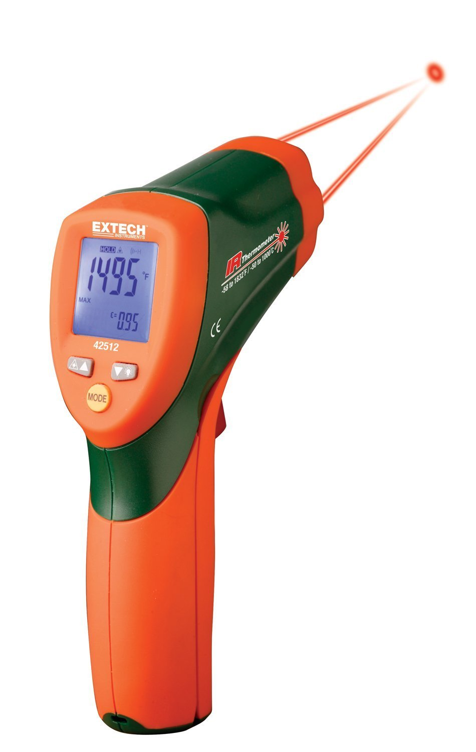 Extech 42512-NIST Dual Laser Infrared Thermometer with NIST