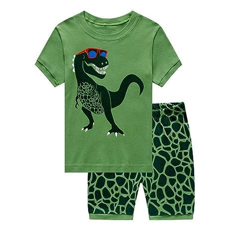comprando ora prezzo incredibile elegante nello stile Topgrowth Pigiama Bambino Dinosauro Maglietta A Maniche ...