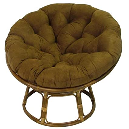 Merveilleux Rattan Papasan Chair With Cushion
