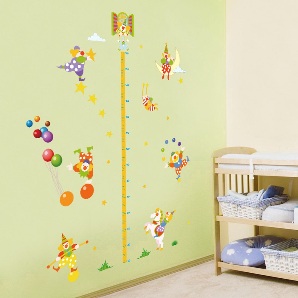 Winhappyhome Circus Cute Clown Children Height Measurement Chart ...