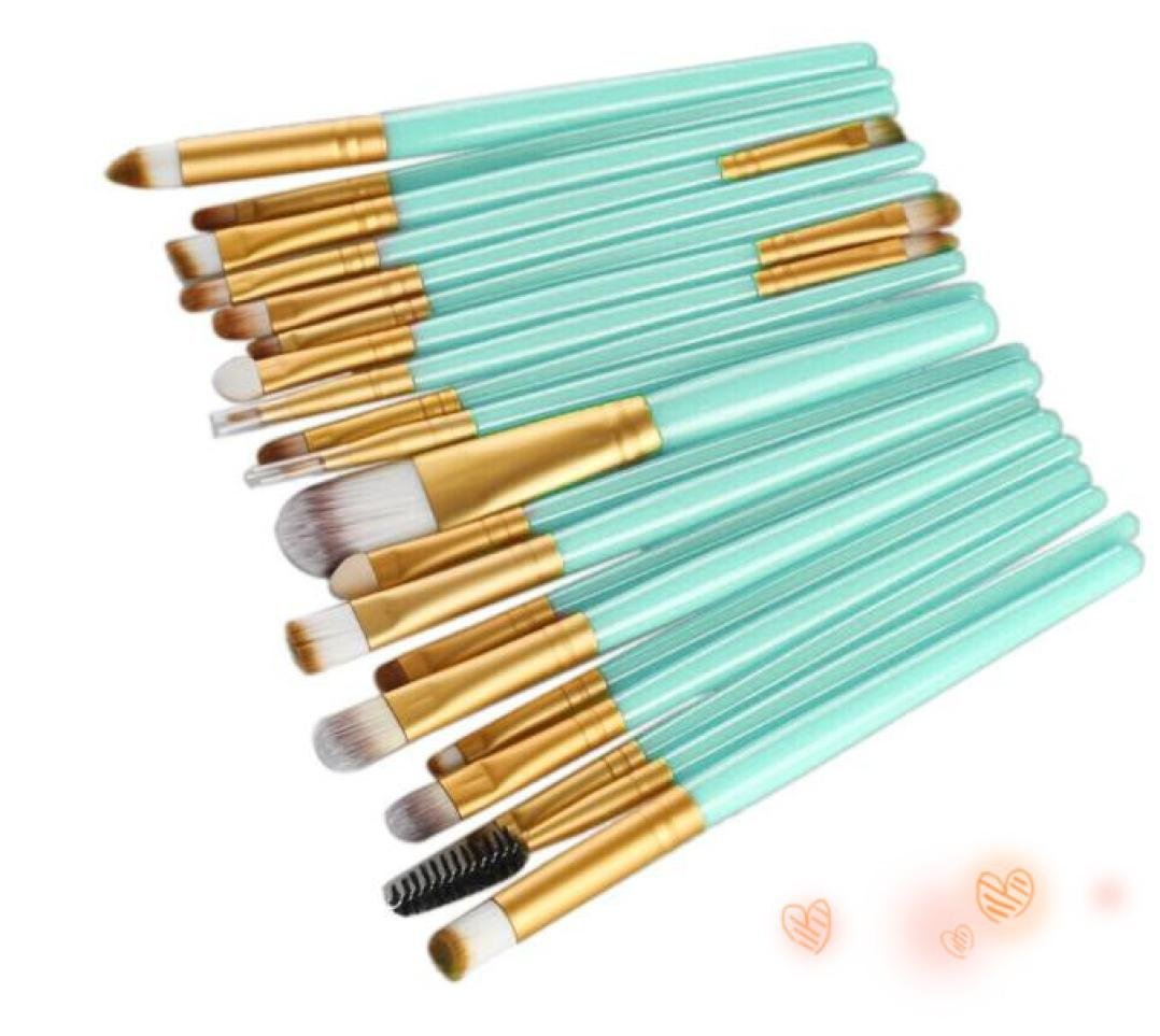 DMZing 20 pcs Makeup Brush Set tools Make-up Toiletry Kit Wool Make Up Brush Set (Gold) C10Y-11A8