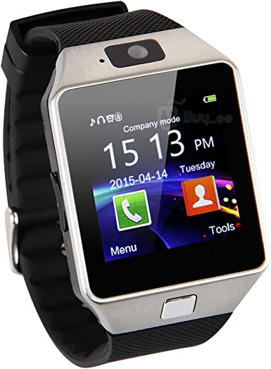 buyee® dz09 Bluetooth Smart Watch de Reloj móvil para Smartphone Samsung iPhone HTC Android Phone with Cámara SIM: Amazon.es: Electrónica