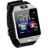 Buyee Dz09 Smartwatch Heartrate Test Bluetooth Smart Watch Wristwatch Smartwatch with Pedometer Anti-lost Camera for Iphone Samsung Huawei Android Phones (Silver)