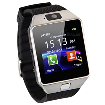 Buyee DZ09 Reloj bluetooth inteligente teléfono-reloj para Smartphone Samsung iPhone HTC Android Phone con