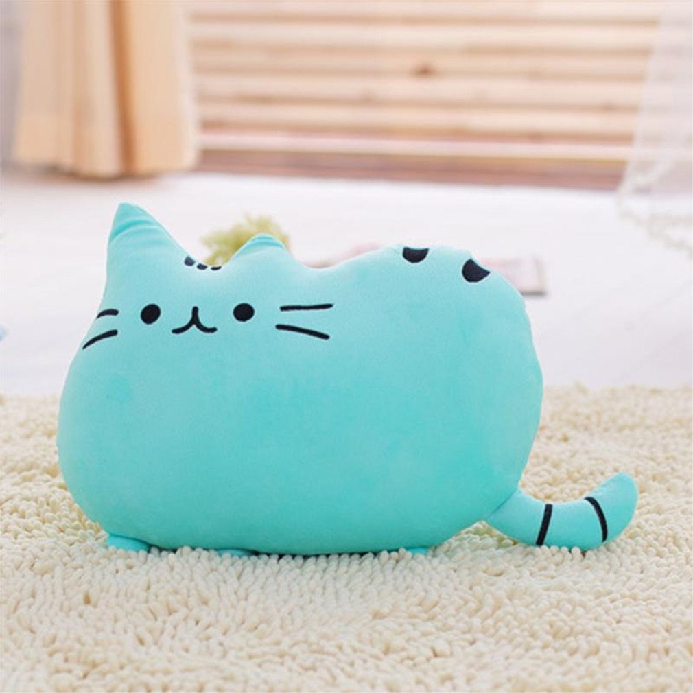 New Arrival 6 Colors Soft Plush Stuffed Animal Doll Anime Toy Cute Cat Pillow For Girl Kid Cute Cushion Brinquedos 4030Cm Blue