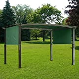 Cheap 17×6.5 ft Pergola Canopy Replacement Shade Cover Green
