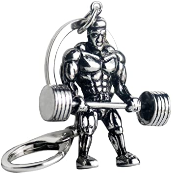 ERDING Llaveros,Hombre Fuerte mancuerna Llavero Hombres Fitness ...