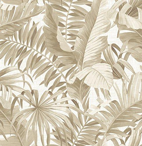 A-Street Prints 2744-24135 Alfresco Taupe Palm Leaf Wallpaper Alfresco Palm Leaf Wallpaper