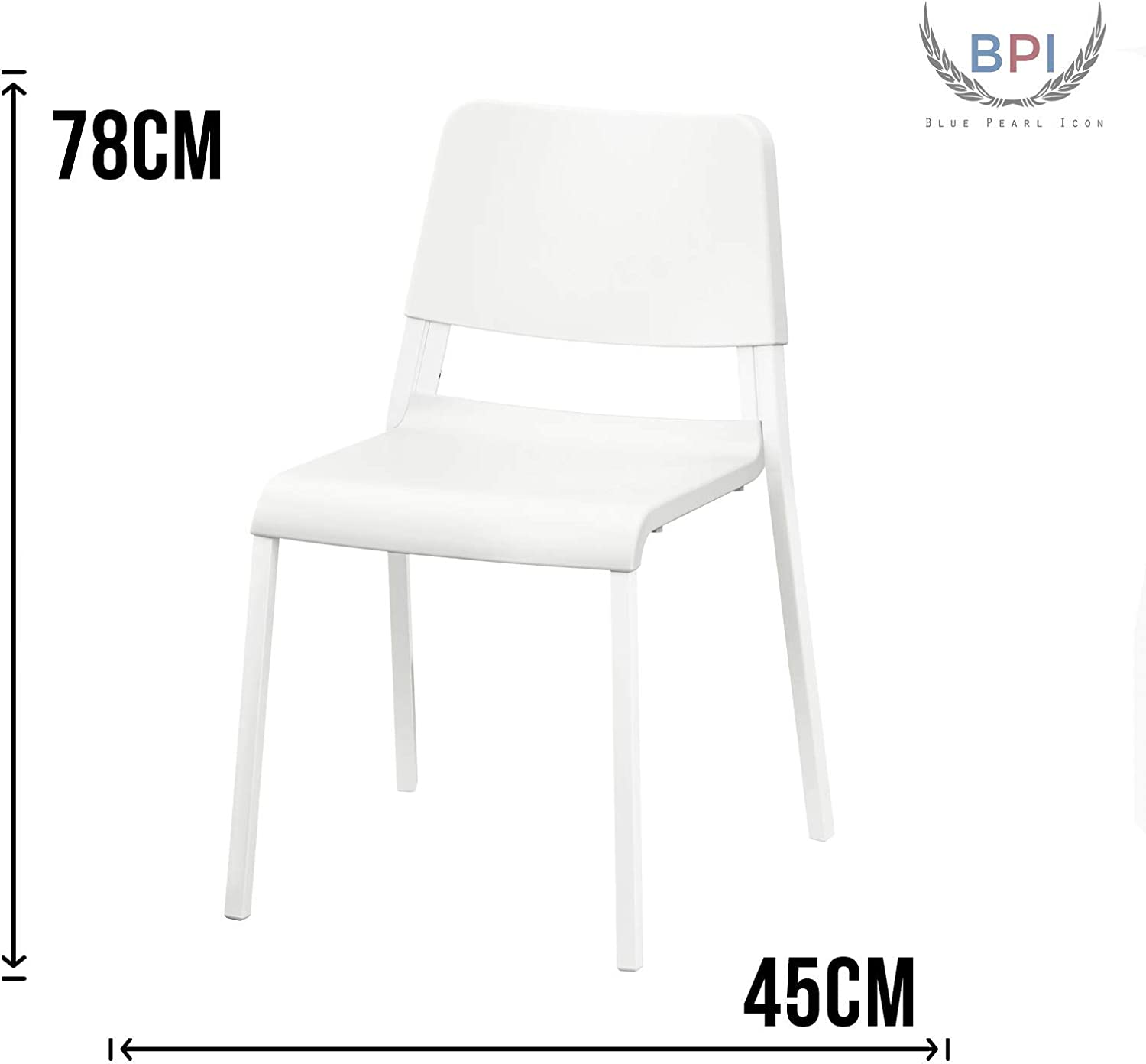 BPIL New IKEA TEODORES - Silla de jardín (45 x 78 cm), Color Blanco: Amazon.es: Hogar