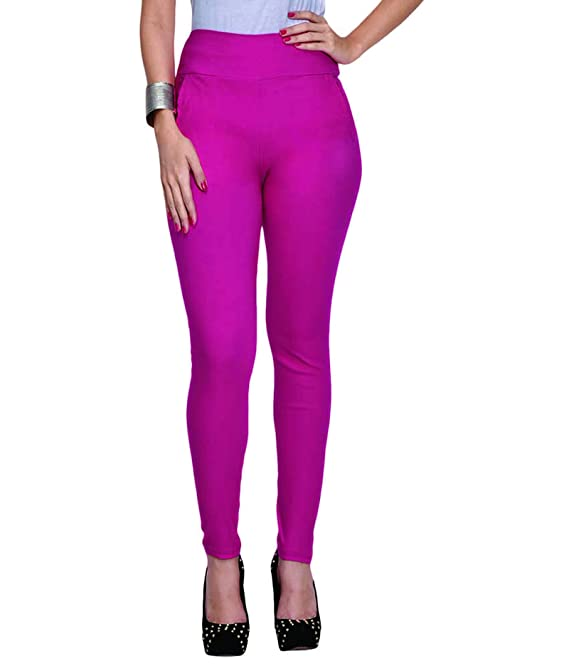Cliths Women's Stretchable Jeggings  Pink