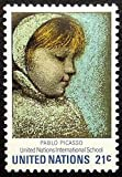 Painting by Pablo Picasso -Young Girl -19650 Framed Postage Stamp Art