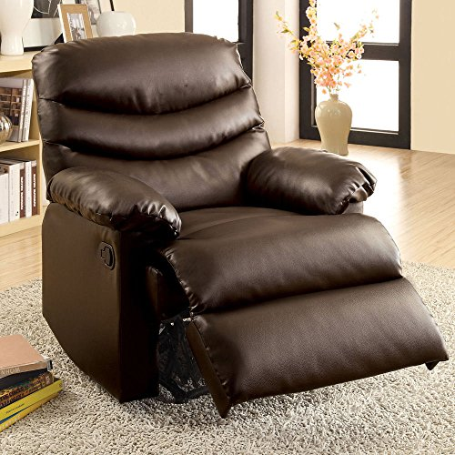 1PerfectChoice Comfort Plush Cushion Recliner Lazy Boy Lounger Chair Brown Bonded Leather Match