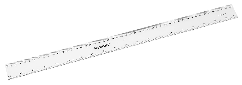Westcott 16/400/mm R/ègle en plastique/ /transparent