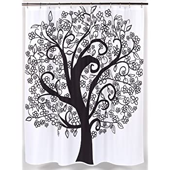 """Tree of Life"" Fabric Shower Curtain"