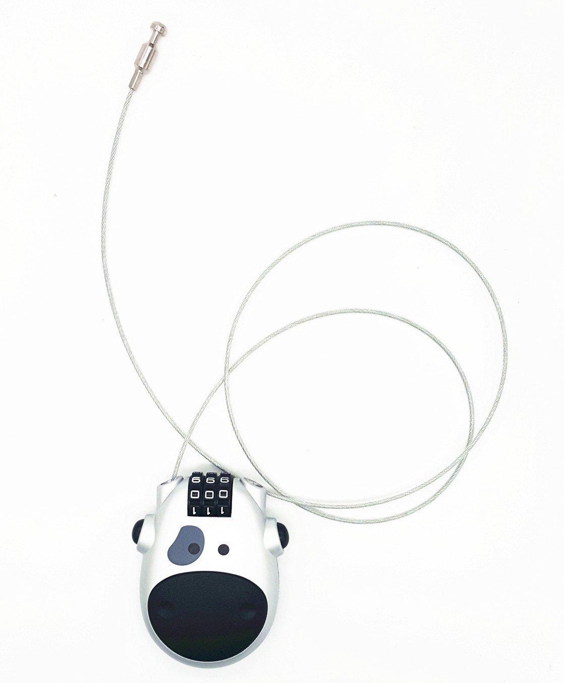 equipaje maleta equipaje Locks archivadores Dise/ño de vaca con candado de combinaci/ón 3/d/ígitos de bloqueo para viajes escuela cable antirrobo para maleta gimnasio Locker