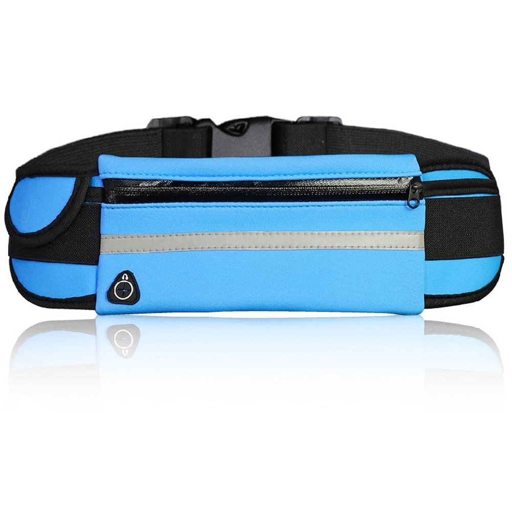 XXMING Running Belt Waist Pack - Water Resistant Runners Belt Fanny Pack for Hiking Fitness - Adjustable Running Pouch for All Kinds of Phones iPhone Android Windows