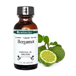 LorAnn Bergamot Oil (100% Pure Food Grade Essential Oil), 1 ounce bottle