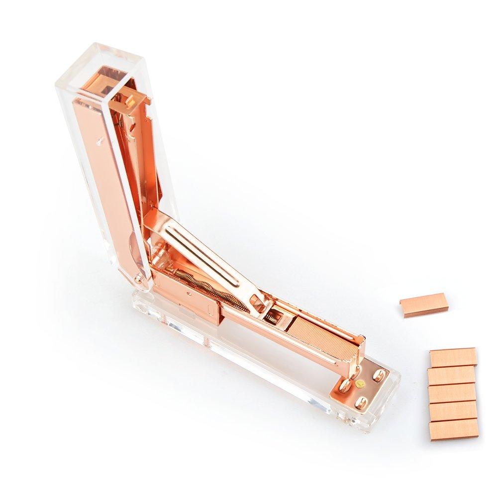 accessorio da scrivania Rose Gold organizer per cancelleria da scrivania Portamatite in acrilico color oro rosa