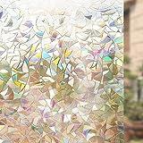 RABBITGOO 3D No Glue Static Decorative Films Glass Window...