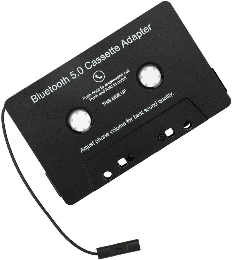 Nicejoy Accesorios Cinta Adaptador inalámbrico Bluetooth Car Audio Cassette Adaptador de Coche MP3 de Audio Digital analógico para el Coche Negro para el hogar