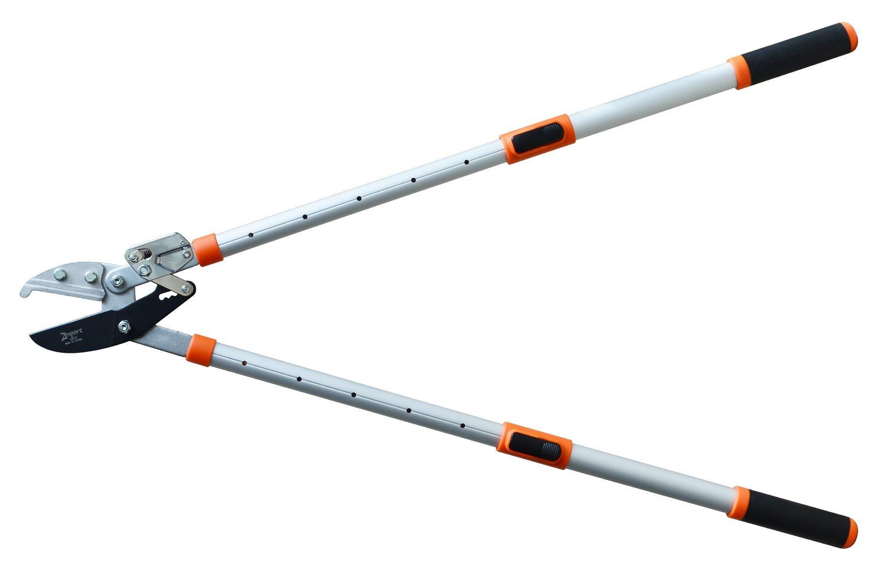 Zenport LRT11 Telescopic Ratchet Anvil Lopper, 23.5-Inch to 35.8-Inch