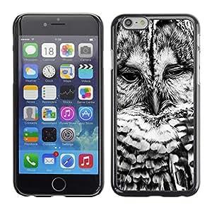 PC/Aluminum Funda Carcasa protectora para Apple Iphone 6 Black White Bird Nature Cute / JUSTGO PHONE PROTECTOR