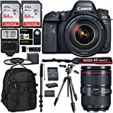 Canon EOS 6D Mark II DSLR Camera, 24-105 IS II USM Lens, Manfrotto Compact Light Aluminum Tripod (Black), Memory Cards, SLR Camera Backpack, XIT Filter Kit and Accessory Bundle
