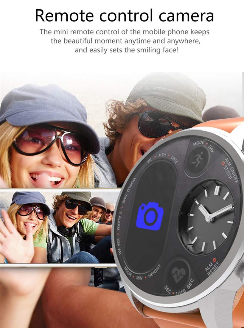 RUIXFWA smart klockhjärtfrekvens blodtryck syre 5 atm vattentätt mode affärer BLÅ