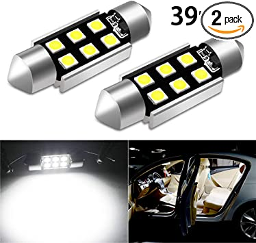 2x 31mm 4 SMD LED GLOVEBOX LIGHT BULBS UPGRADE XENON WHITE 269