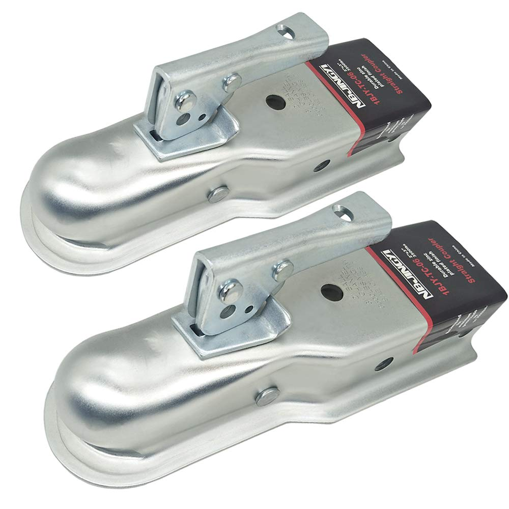 2'' X 3'' Trailer Coupler 3500LBS Towing Boat Straight Tongue Coupler 2 Packs (3'') by NBJINGYI
