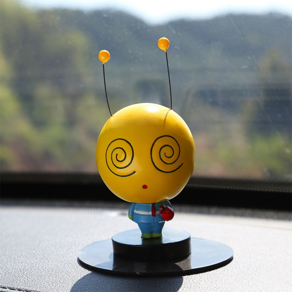 Beyonder Creative Cute Expression Shaking Head Dolls,Emoji Doll Toy Car Accessories/Dashboard Bobblehead for Car/Interior Decoration, Bobble Head Toy, Kid's Gift (#3-1Pack)