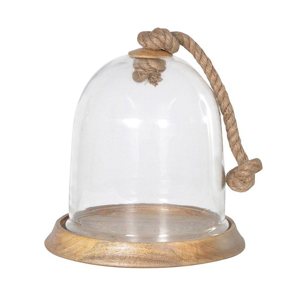 Rope Handle Cloche Medium Glass Dome