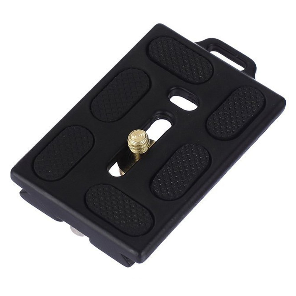 GkGk Quick Release Plate for G06/G06s Tripod Pan Head with 2pcs GkGk 1/4'' to 3/8'' Convert Screw Adapters