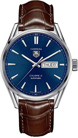 2fd2e74376f63 Image Unavailable. Image not available for. Color  TAG Heuer Carrera  Calibre 5 Day-Date Automatic Watch 41 mm Men s Watch