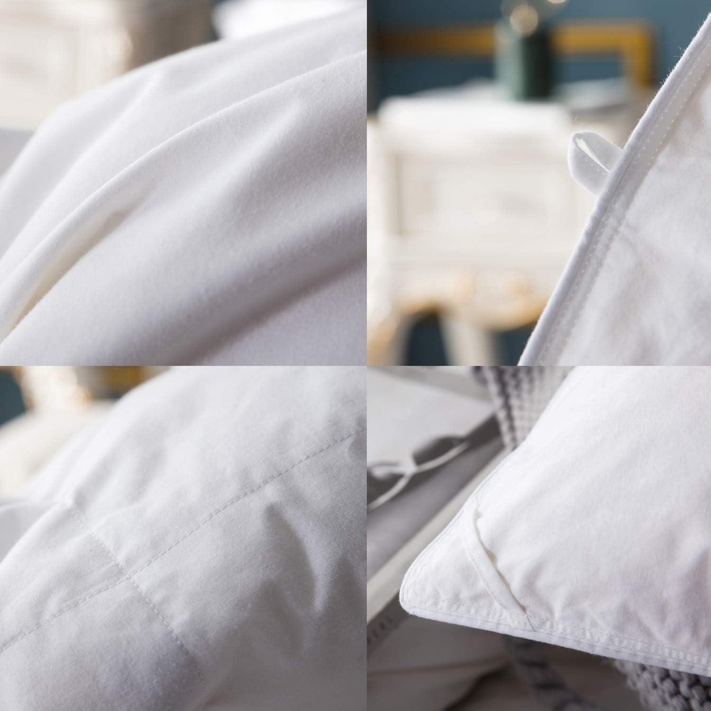 TIANMIAOTIAN Couette Temp/ér/ée Et Blanc 220 X 240 Cm /& Couette en Duvet doie Blanche Hypoallerg/énique Matelass/ée Blanc,Toutes Les Tailles,1.5x2.0m 2.5kg