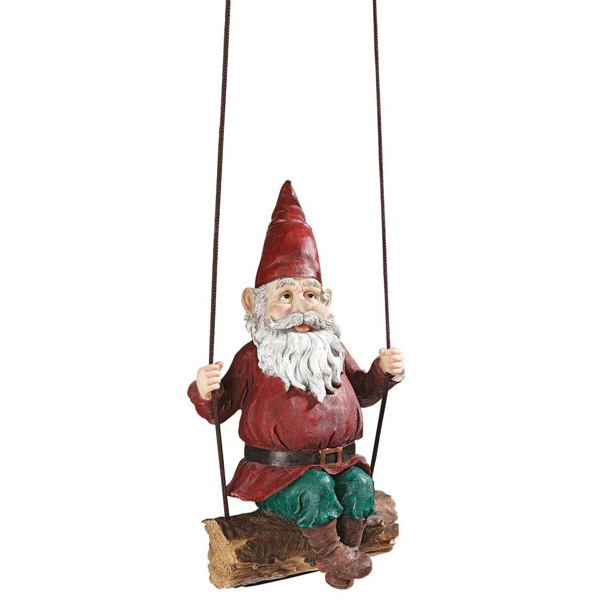Amazon Garden Gnome Statue Sammy The Swinging Gnome