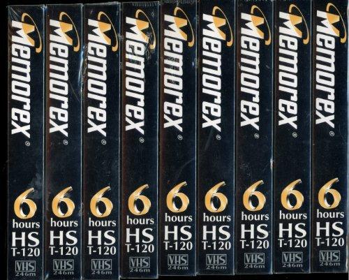 Memorex 9-Pack Blank VHS Tapes HS T-120 by Memorex