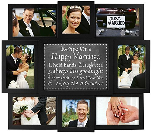 Malden International Designs Happy Marriage Recipe Collage Frame,
