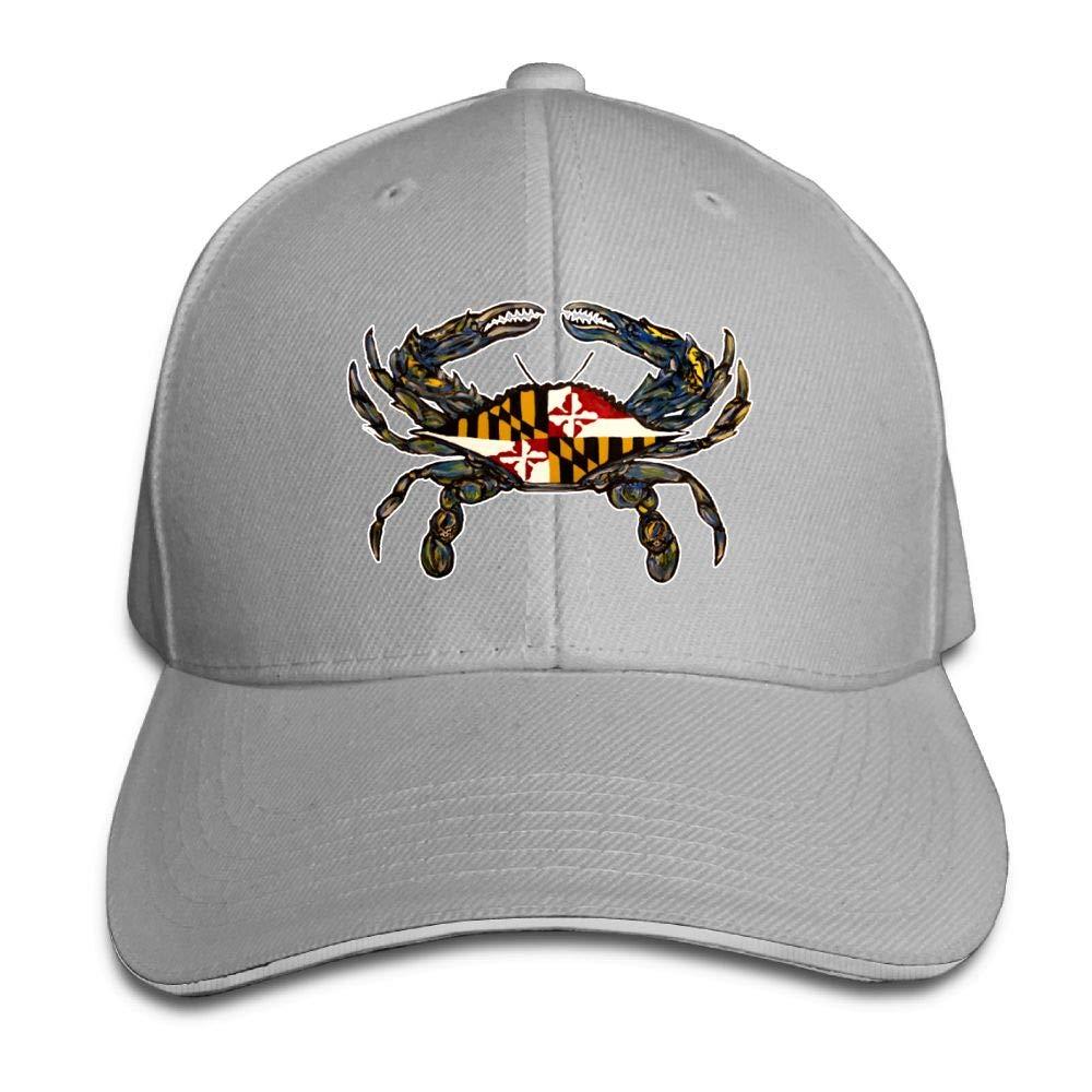 JustQbob1 Retro Crab Outdoor Snapback Sandwich Cap Adjustable Baseball Hat Dad Hat