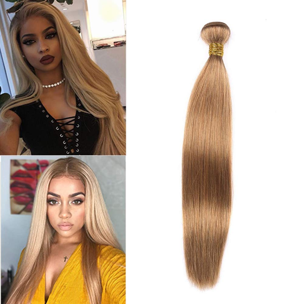 Dai Weier Brazilian Straight Hair 1 Bundle Honey Blond 27 Color Real 100% Human Hair Extensions Wave Capelli 20 Inches Xuchang Dai weier