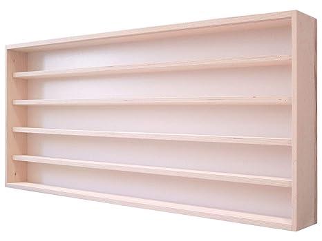 Ante Scorrevoli In Plexiglass.Alsino V18 Vetrina Espositiva 150 X 58 X 15 Cm In Legno Di