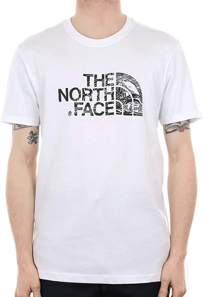 The North Face S/S Wood Dome tee Camiseta, Hombre, TNF White/TNF Black, L: Amazon.es: Ropa y accesorios