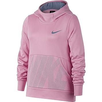 Nike G NK Therma Hoodie PO Energy - Sudadera, Niña, (Pink/Ashen Slate/Ashen Slate/Ashen Slate): Amazon.es: Deportes y aire libre