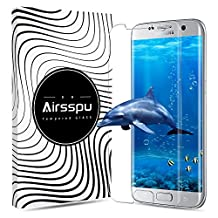 Samsung Galaxy S7 Edge Screen Protector,Airsspu Tempered Glass 3D Touch Compatible,9H Hardness,Bubble (1 Pack)