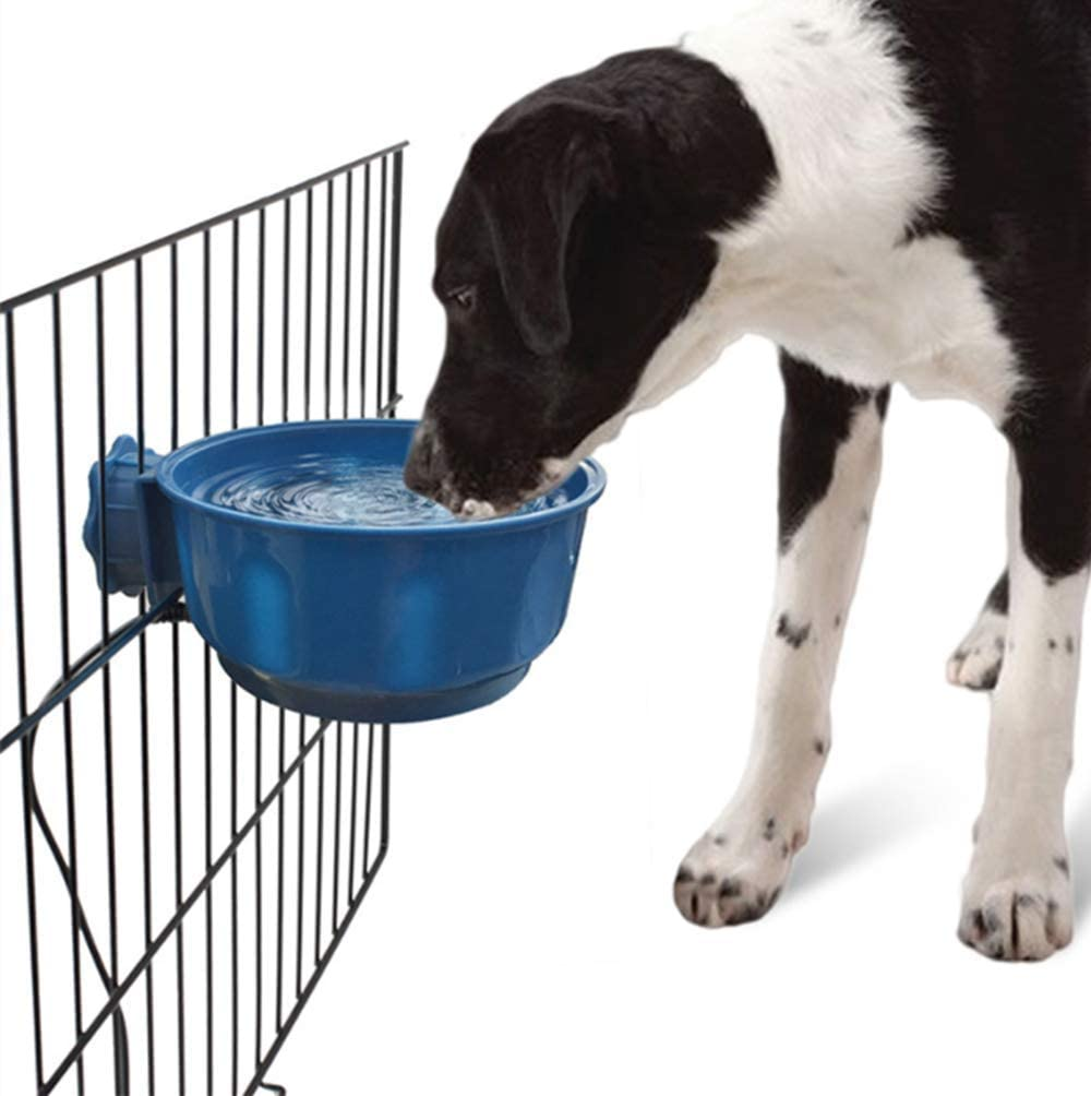 Pet Water Heated Bowl Cage Removable Hanging Dish Thermal-Bowl, Outdoor Anti Freezing Feeder for Cat, Chicken, Rabbit, Puppy, Duck,20 OZ