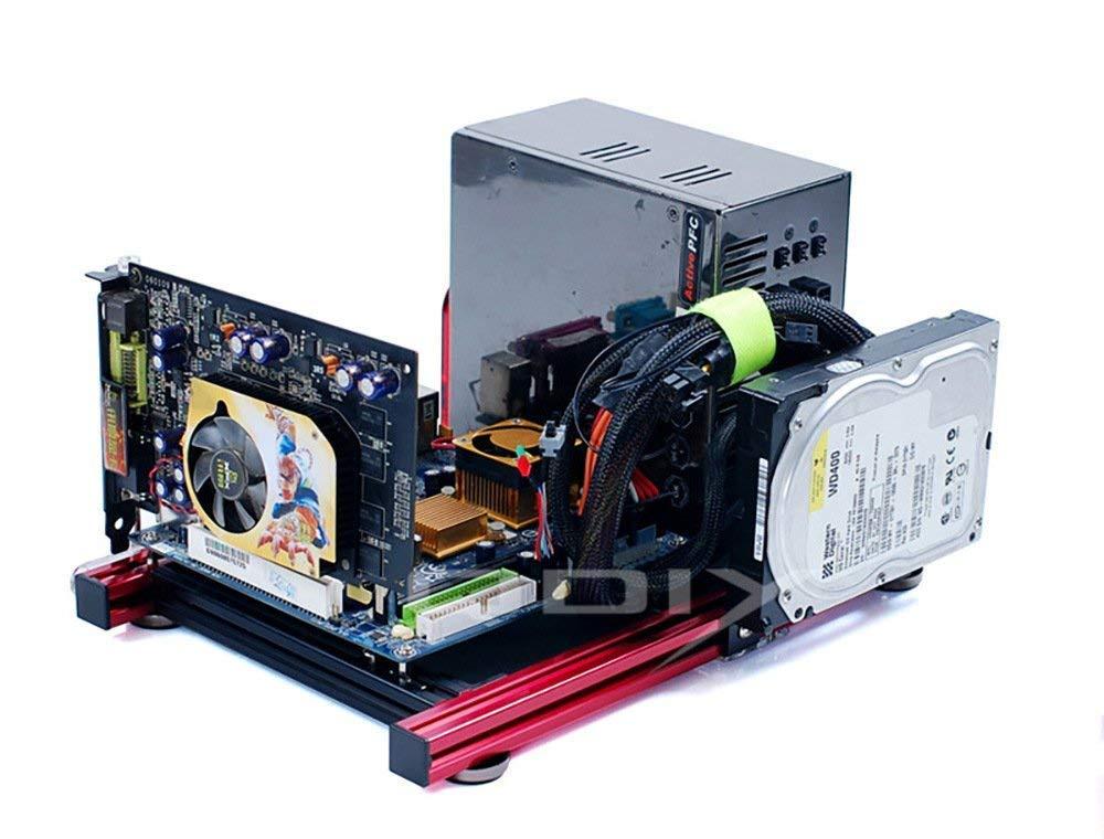 Itx Computer Open Air Case Bracket Aluminum Diy Bare Frame Support Graphics Card