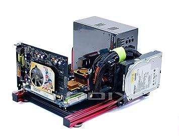 amazon itxコンピュータopen airケースブラケットアルミ製diyベア