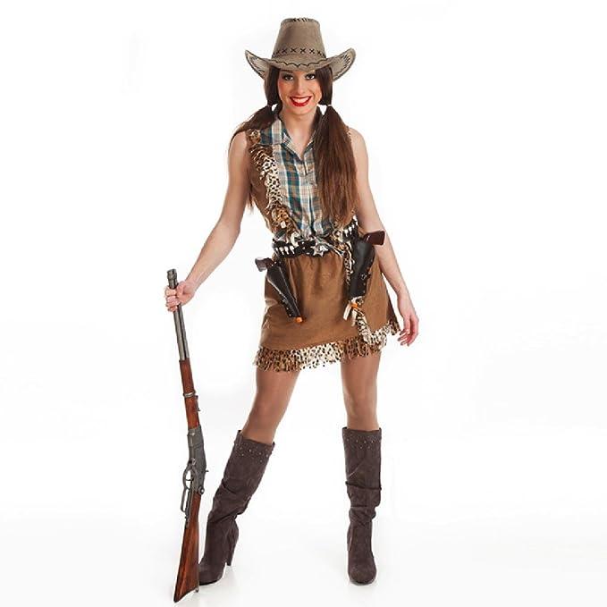 1de8c7e7c4 Disfraz de Vaquera para Mujer  Amazon.es  Ropa y accesorios
