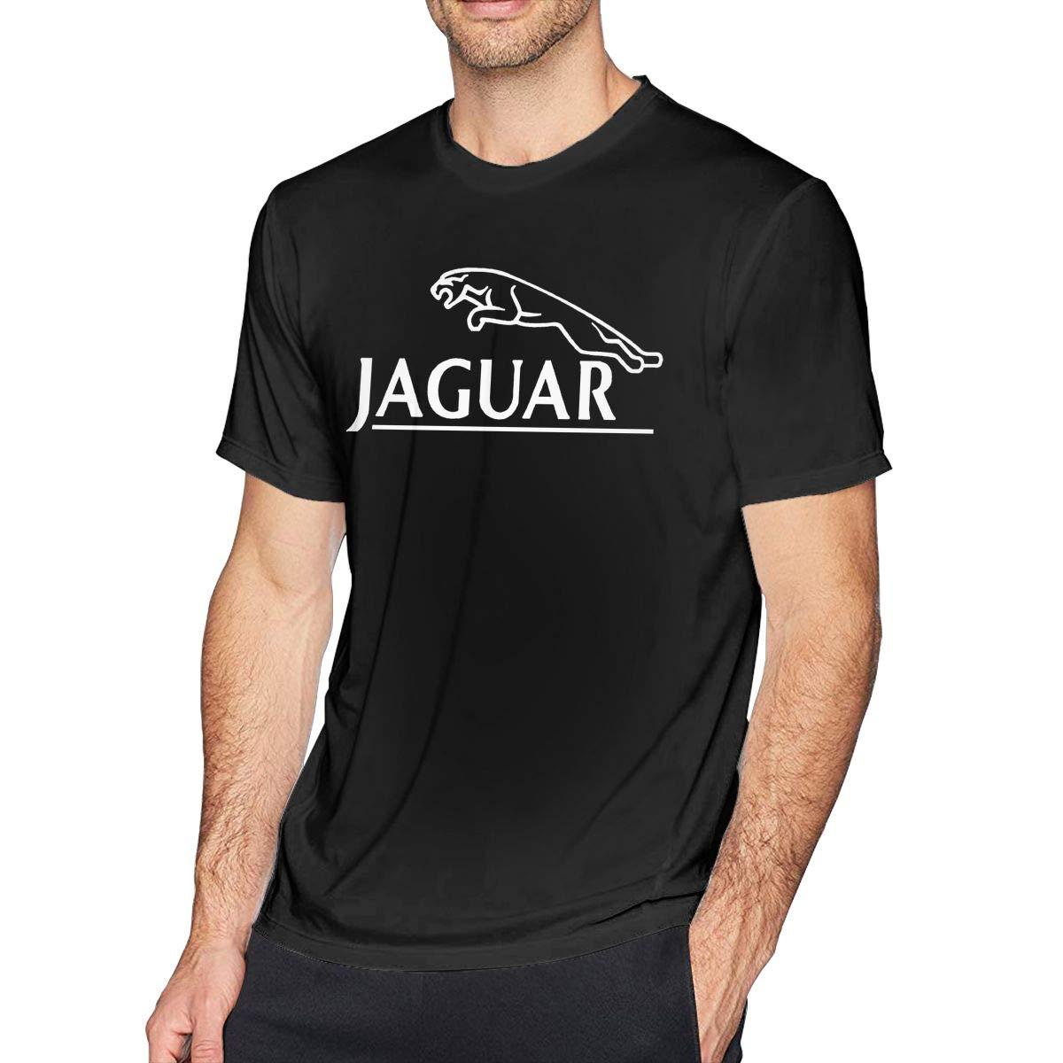 Kinggo Mens Custom Jaguar Logo Short Sleeve Comfortable T-Shirt Black