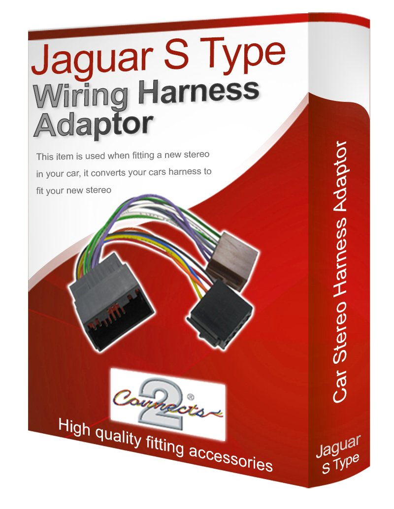 Jaguar S Type Cd Radio Stereo Wiring Harness Adapter E Electronics